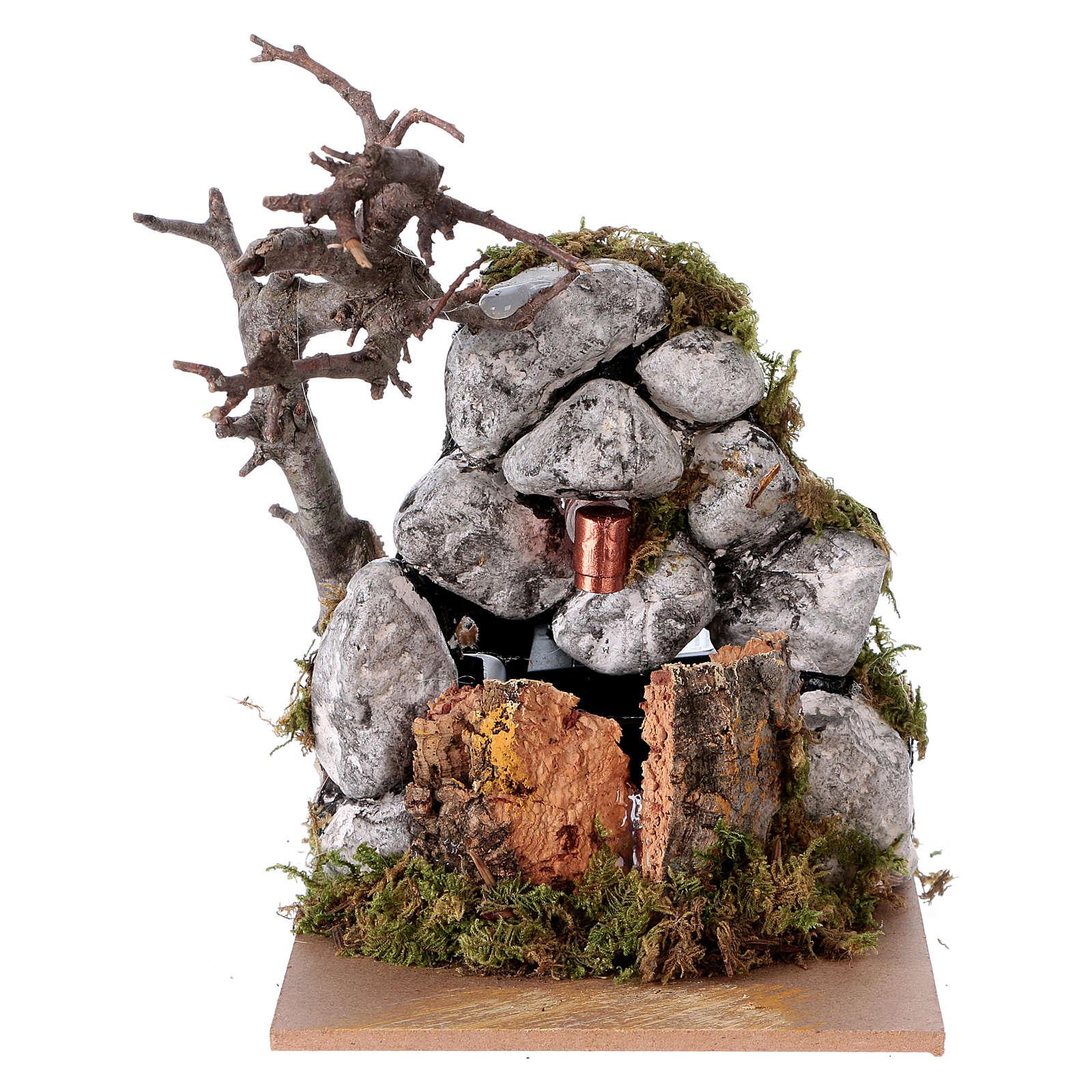 Fountain with pump for Nativity Scene 10x10x15 cm 4