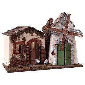 Electric windmill for nativity scene, 30x40x20 cm s3