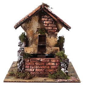 Brick Water Mill 20x25x25 cm for Nativity s1