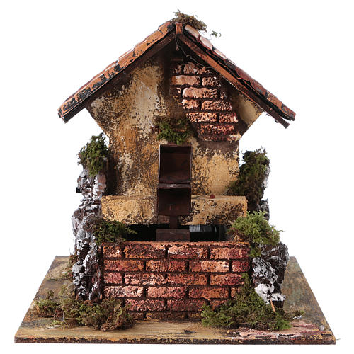 Brick Water Mill 20x25x25 cm for Nativity 1