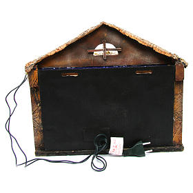 Hut with sky 25x35x25 cm for Neapolitan Nativity Scene s4