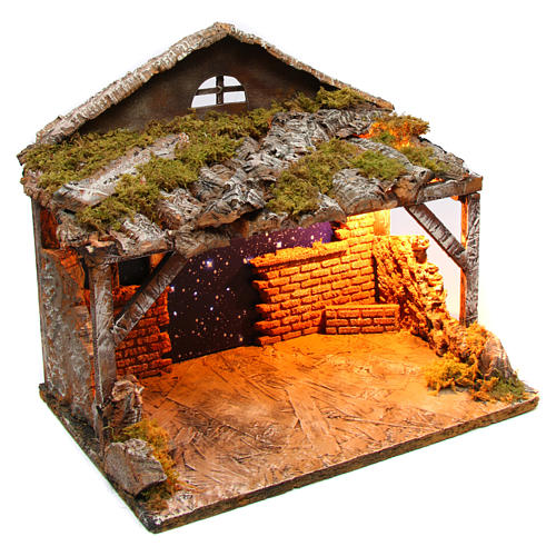 Hut with sky 25x35x25 cm for Neapolitan Nativity Scene 3