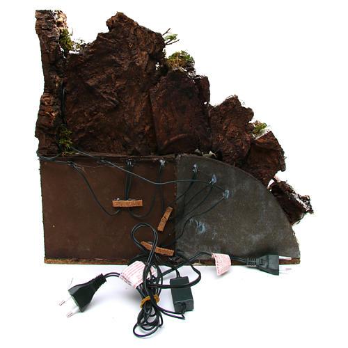 Décor rustique avec cuisine 30x40x30 cm crèche napolitaine 4