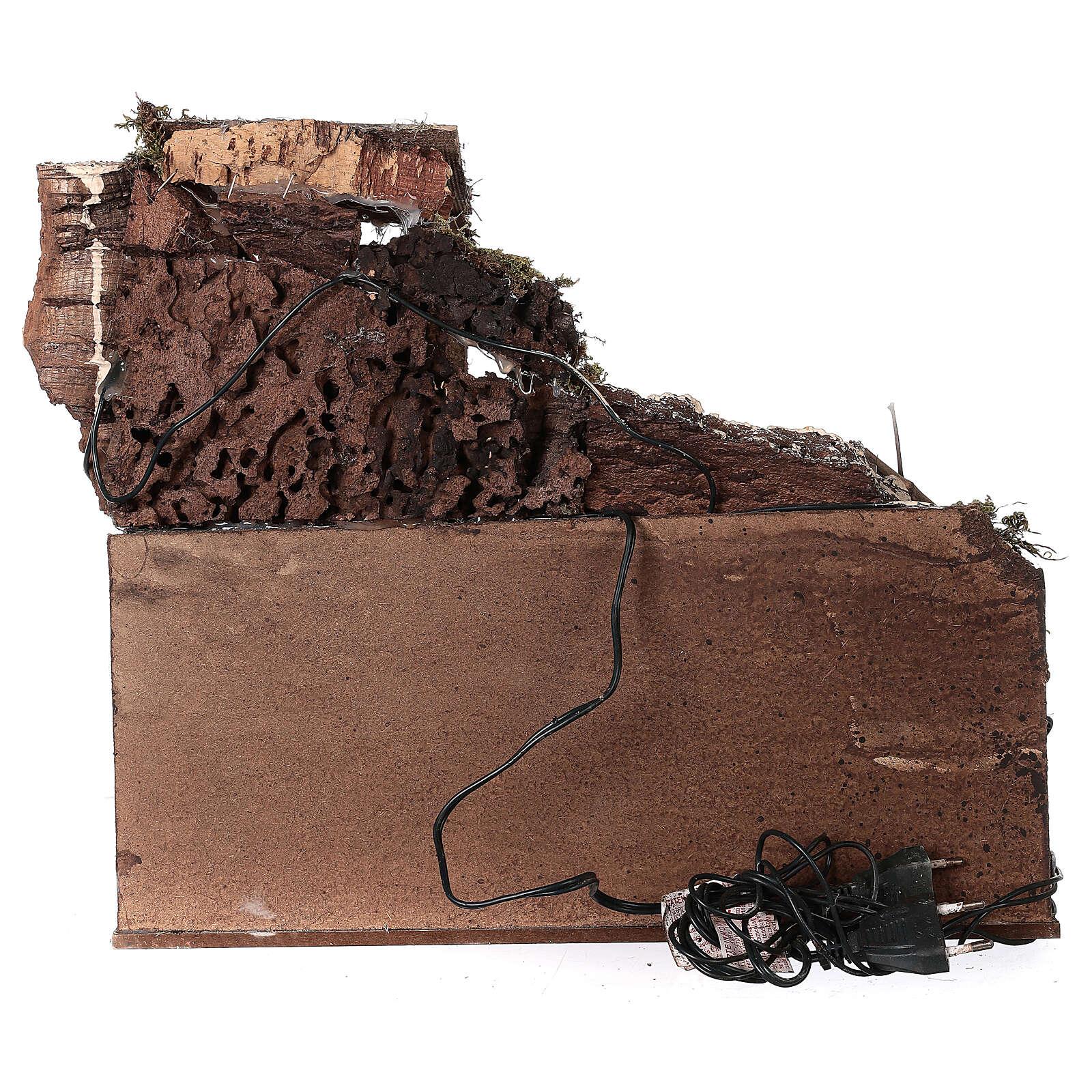 Ambientazione rustica con cucina 30X40X30 cm presepe napoletano 4