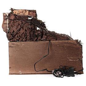 Ambientazione rustica con cucina 30X40X30 cm presepe napoletano s4