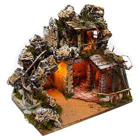 Neapolitan Nativity Scene rural setting with kitchen 30x40x30 cm s3