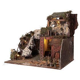 Neapolitan Nativity Scene rural setting with kitchen 30x40x30 cm s2