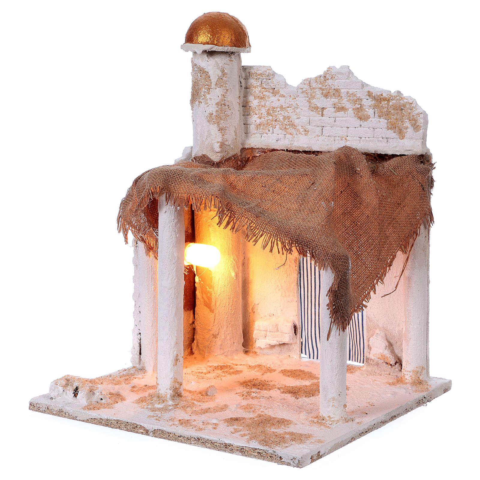 Belén napolitano árabe con cúpula y luces 40x30x30 cm 4