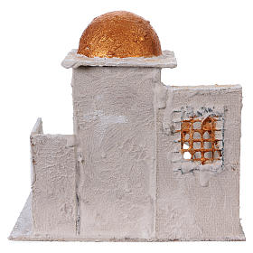 Arab house with stairs and archway for Nativity scene 25x25x20 cm s4