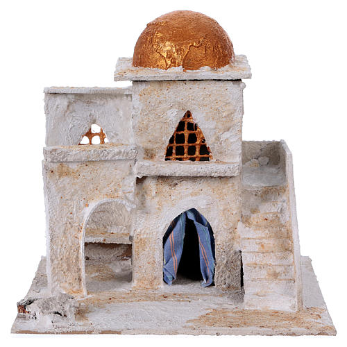 Arab house with stairs and archway for Nativity scene 25x25x20 cm 1