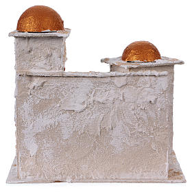 Arab house with domed painted in gold for Nativity scene 30x30x20 cm s4