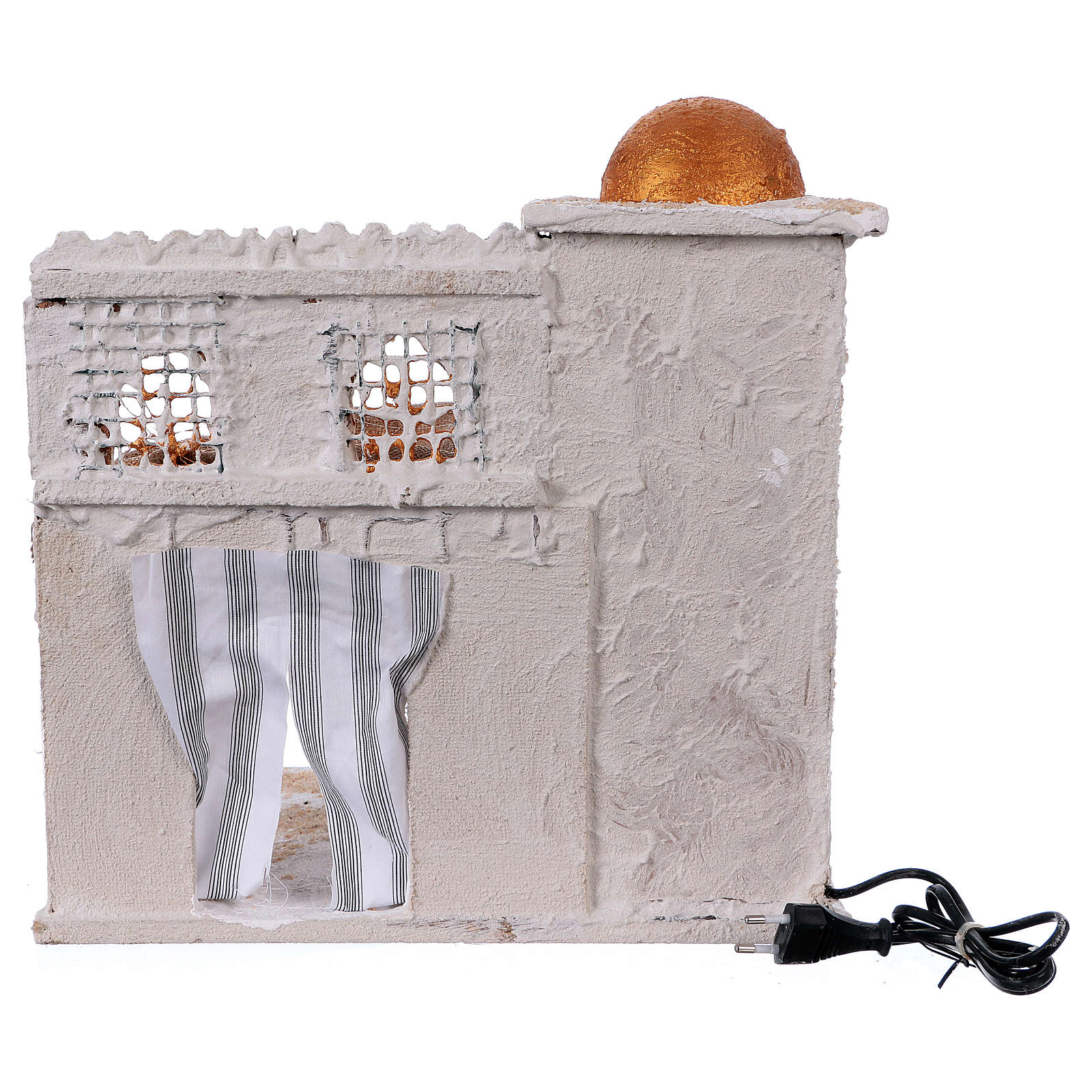 Arabian style house with domes and pillars for Nativity scene 36x35x27 cm 4