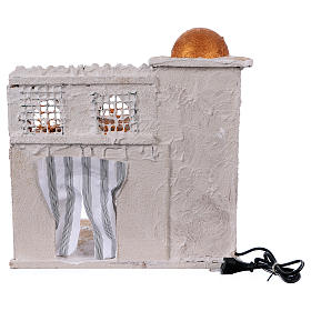 Arabian style house with domes and pillars for Nativity scene 36x35x27 cm s4