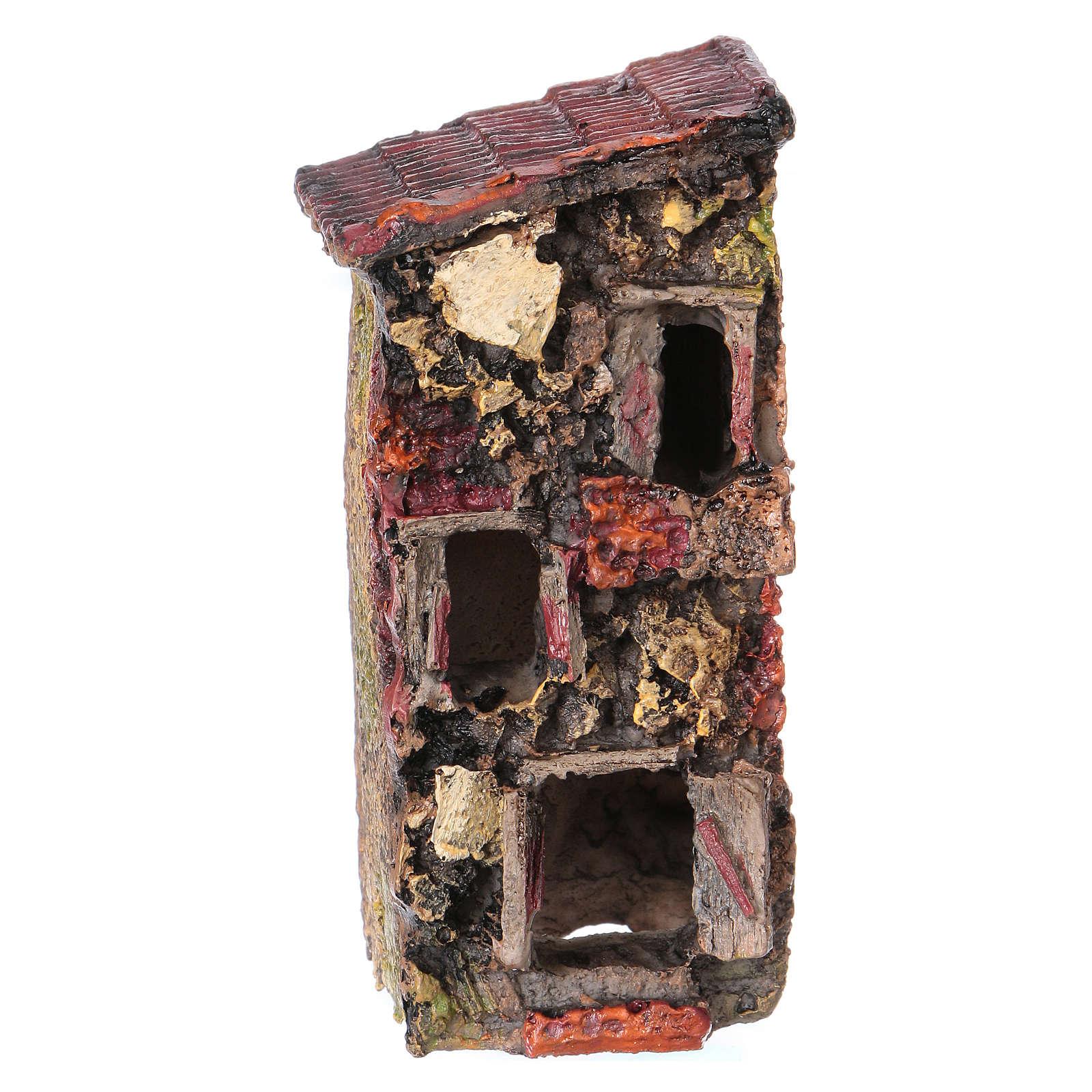 House in resin 5x10x5 cm for Nativity Scene 4