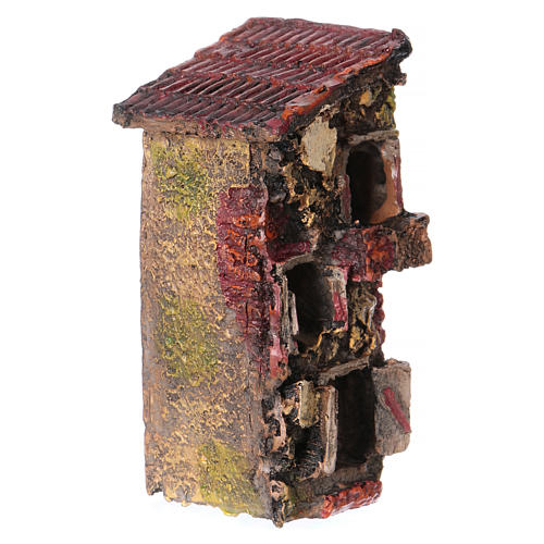 House in Resin 5x10x5 cm for Nativity 2