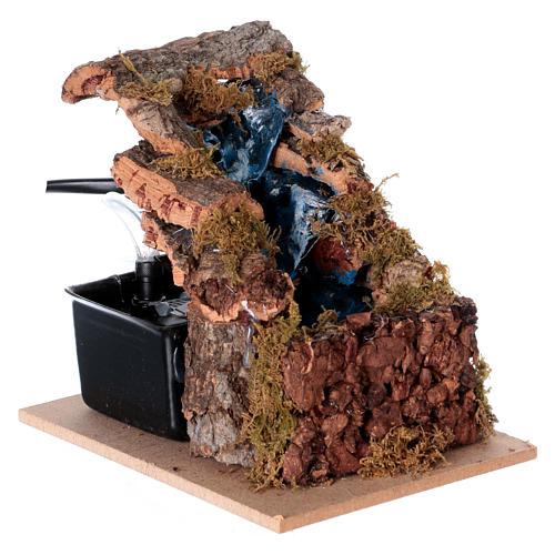 Cascada con 3 escalones para belén napolitano 10x10x5 3
