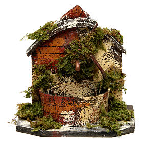 Brick Fountain with Moss and Pump 15x10x10 cm s1