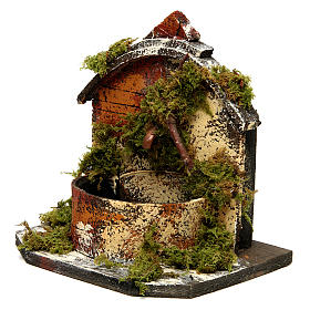 Brick Fountain with Moss and Pump 15x10x10 cm s2