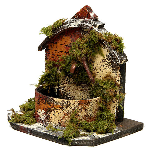 Brick Fountain with Moss and Pump 15x10x10 cm 2