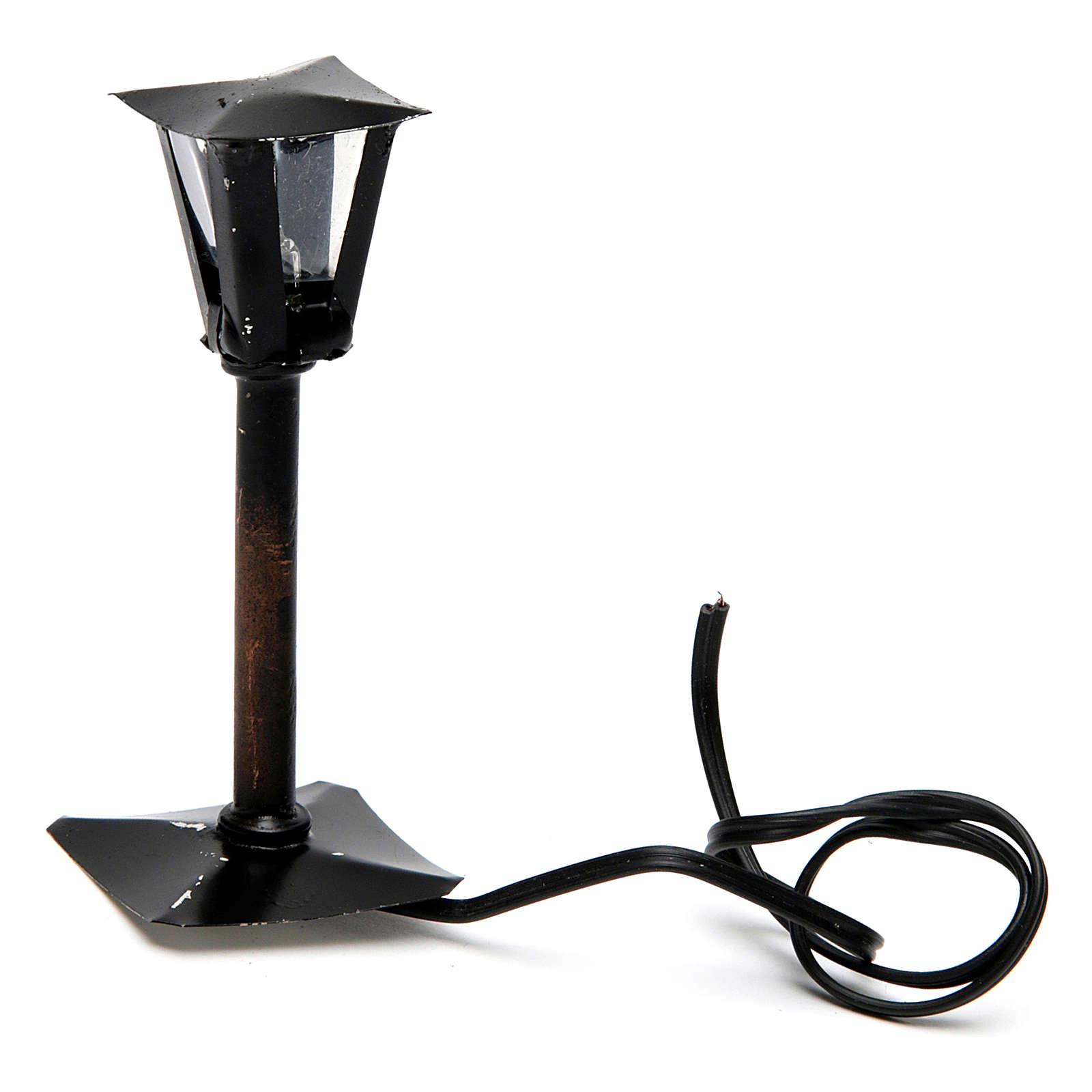 Farola con linterna belén hecho con bricolaje 8 cm - 12V 4
