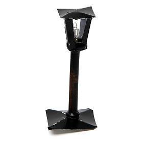 Farola con linterna belén hecho con bricolaje 8 cm - 12V s1