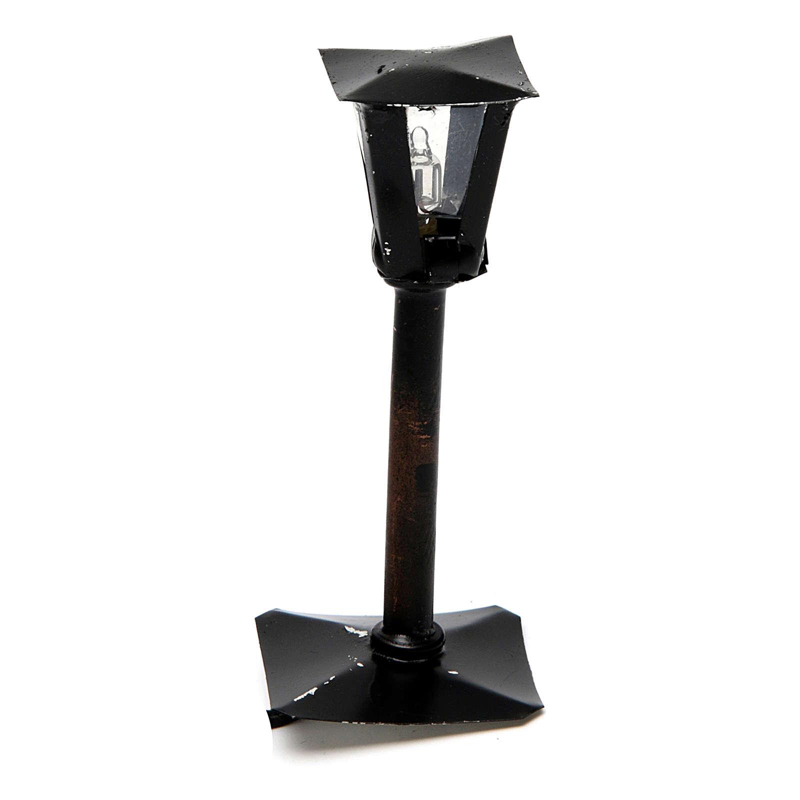 Réverbère de rue avec lanterne bricolage de crèche 8 cm - 12V 4