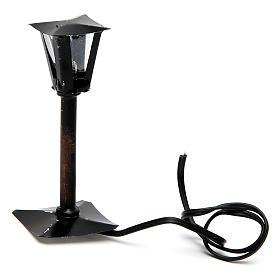 Réverbère de rue avec lanterne bricolage de crèche 8 cm - 12V s2