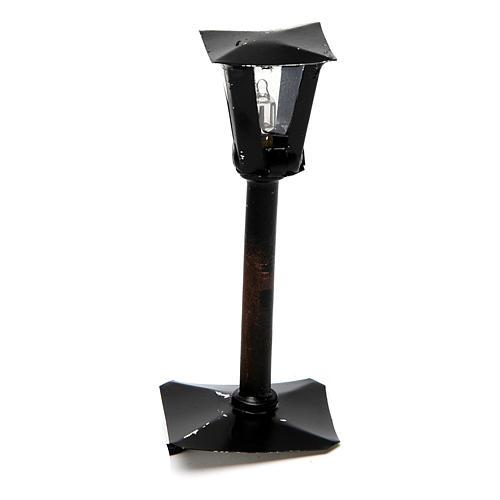 Lampião de rua com lanterna bricolagem presépio 8 cm - 12V 1