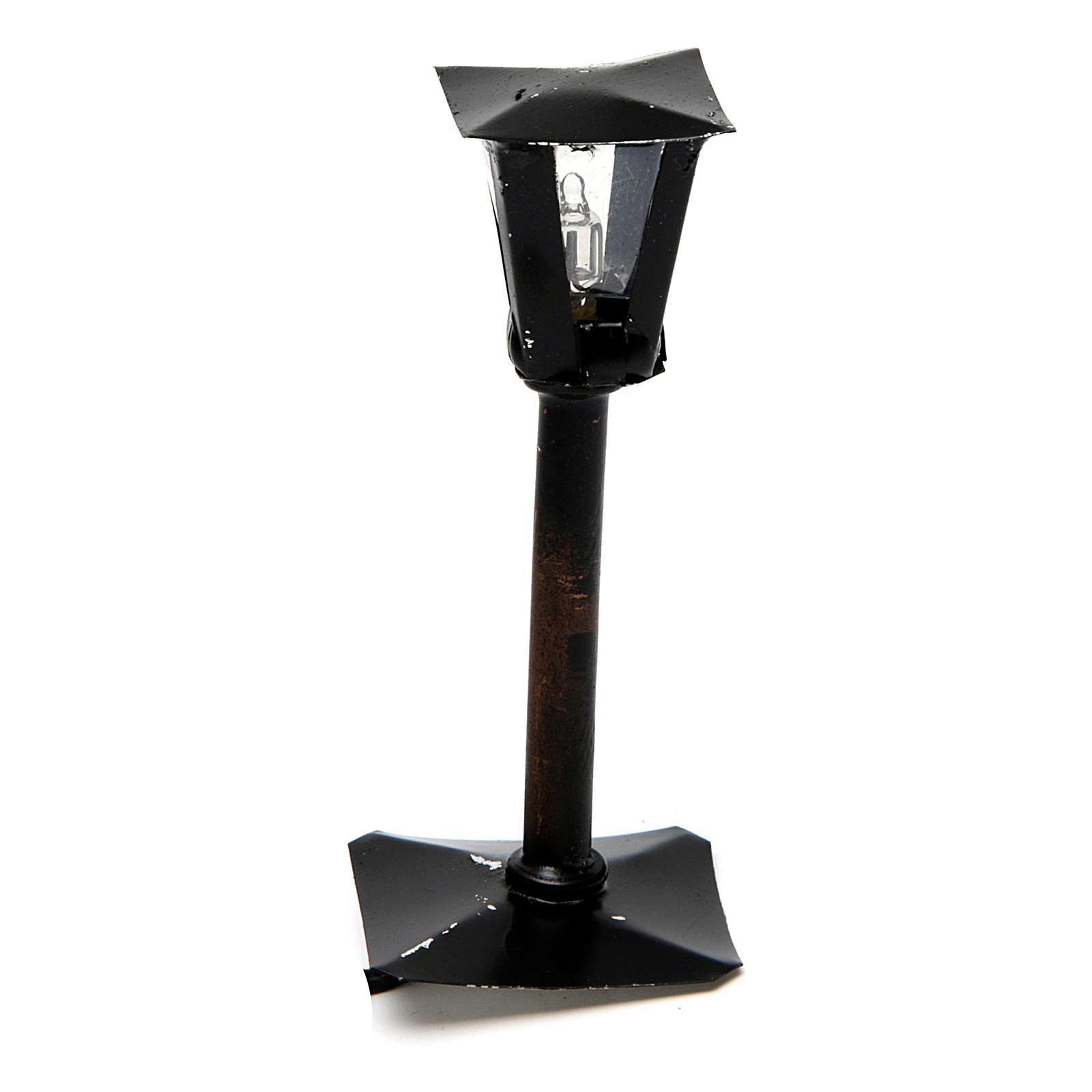 Black Street Lantern for a Do It Yourself Nativity 8 cm 4