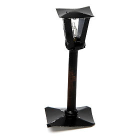 Black Street Lantern for a Do It Yourself Nativity 8 cm s1