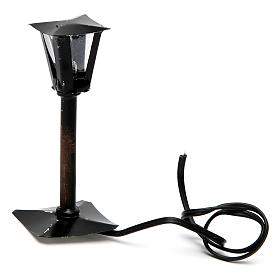 Black Street Lantern for a Do It Yourself Nativity 8 cm s2