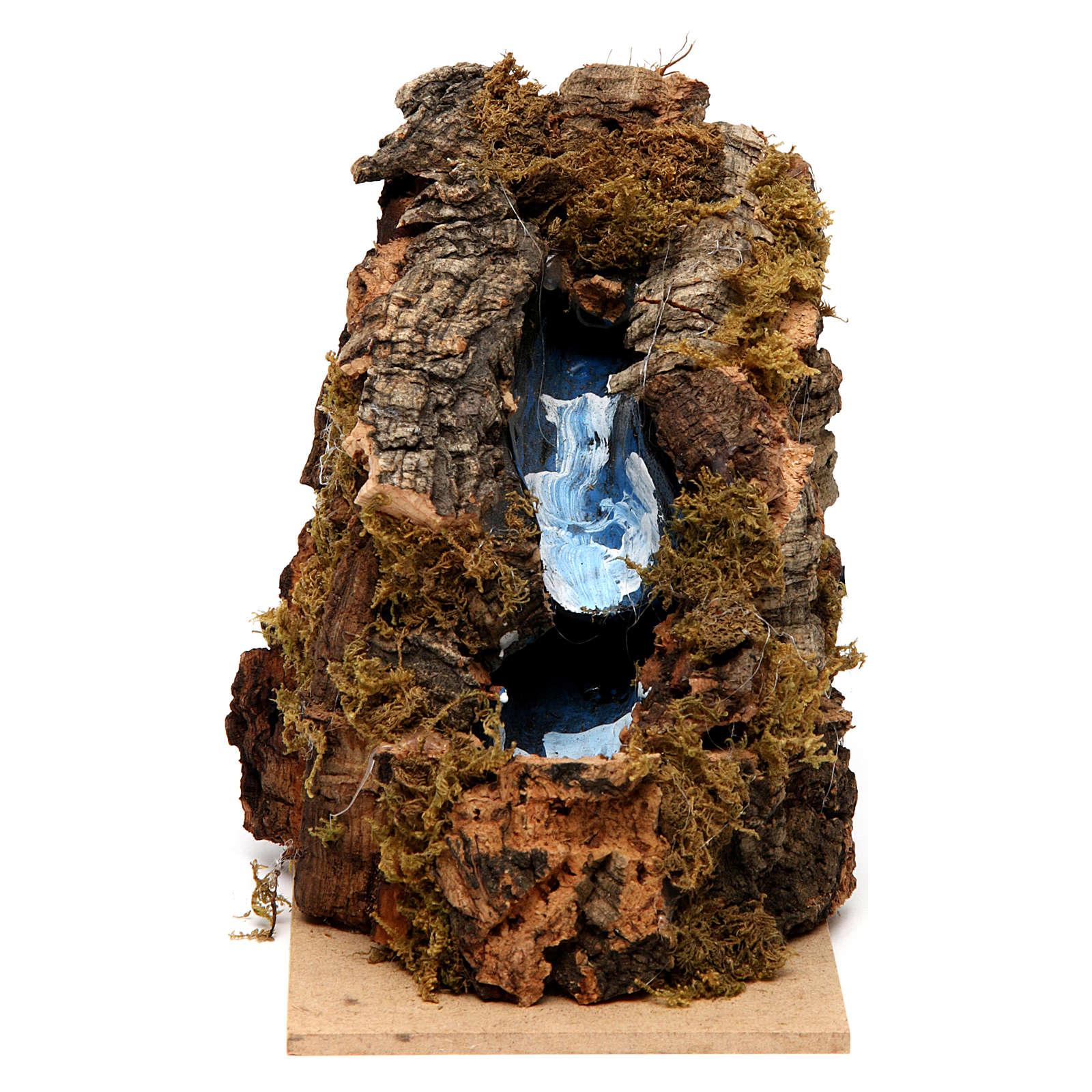 Cascada 2 escalones 15x10x10 cm belén napolitano 4