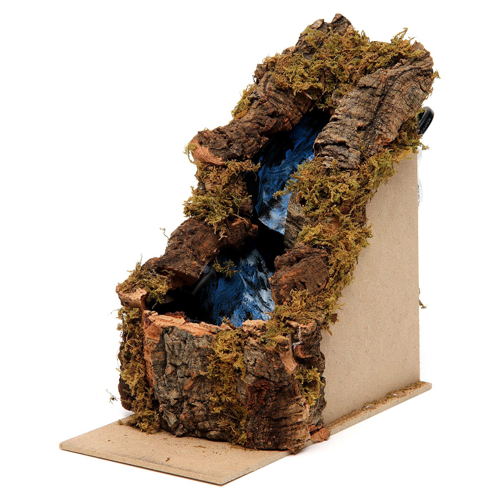 Cascada 2 escalones 15x10x20 cm belén napolitano 4