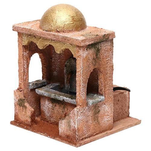 Electric fountain for Nativity scene 20x15x15 cm 3