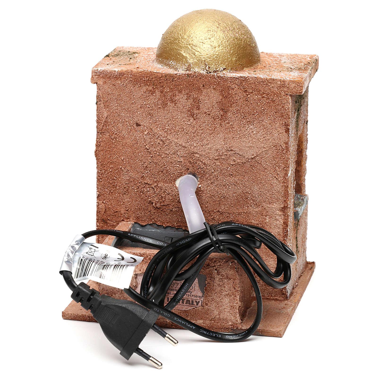 Fontana elettrica per presepe 10 12 cm 20x15x15 4