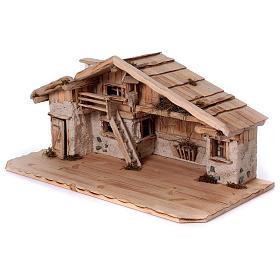 Stalla modello Titisee in legno per presepe 12-16 cm s3