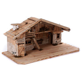 Stalla modello Titisee in legno per presepe 12-16 cm s5