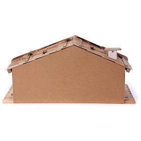 Stalla modello Titisee in legno per presepe 12-16 cm s6