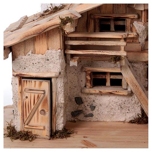 Stalla modello Titisee in legno per presepe 12-16 cm 2