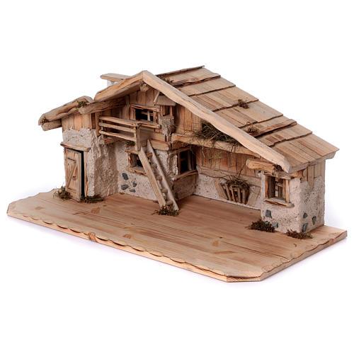 Stalla modello Titisee in legno per presepe 12-16 cm 3