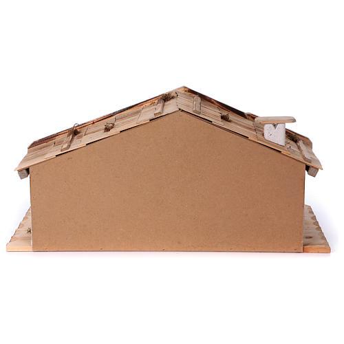 Stalla modello Titisee in legno per presepe 12-16 cm 6