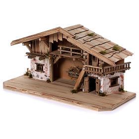 Stalla modello Flachau in legno per presepe 9-11 cm s3