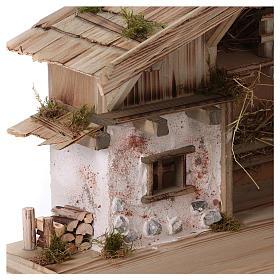 Stalla modello Flachau in legno per presepe 9-11 cm s4