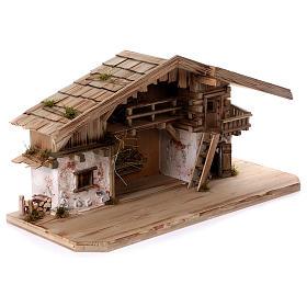 Stalla modello Flachau in legno per presepe 9-11 cm s5