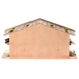 Stalla modello Flachau in legno per presepe 9-11 cm s6
