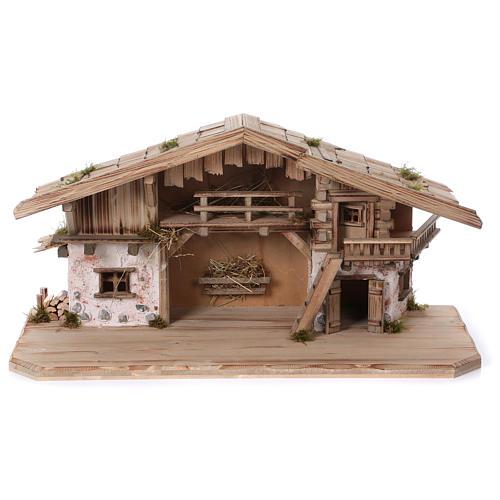 Stalla modello Flachau in legno per presepe 9-11 cm 1