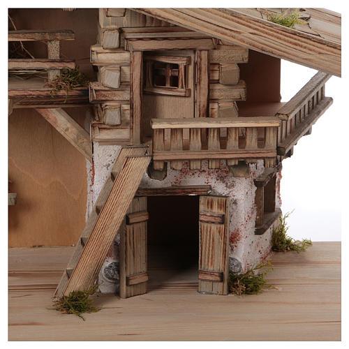 Stalla modello Flachau in legno per presepe 9-11 cm 2