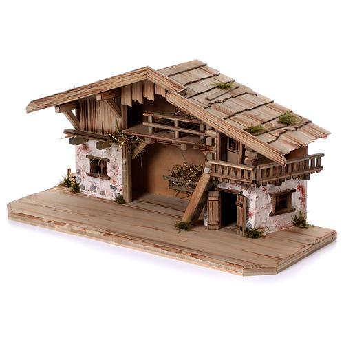 Stalla modello Flachau in legno per presepe 9-11 cm 3