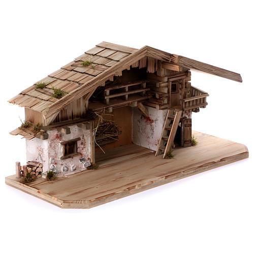 Stalla modello Flachau in legno per presepe 9-11 cm 5