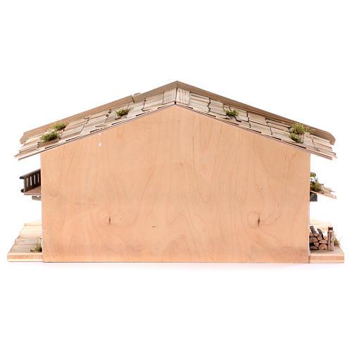 Stalla modello Flachau in legno per presepe 9-11 cm 6